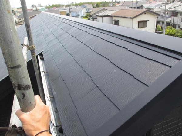 3回の屋根の塗装。