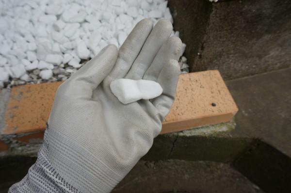 防犯砂利敷設作業
